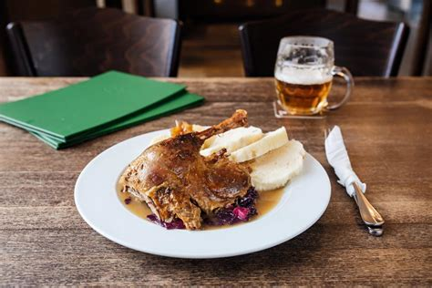 Traditional Czech duck and cabbage