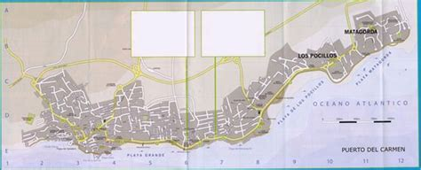 Large Puerto del Carmen Maps for Free Download and Print