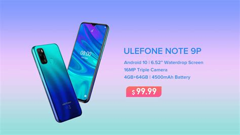 Ulefone Note 9P with Fantastic Aurora Blue Color Launches