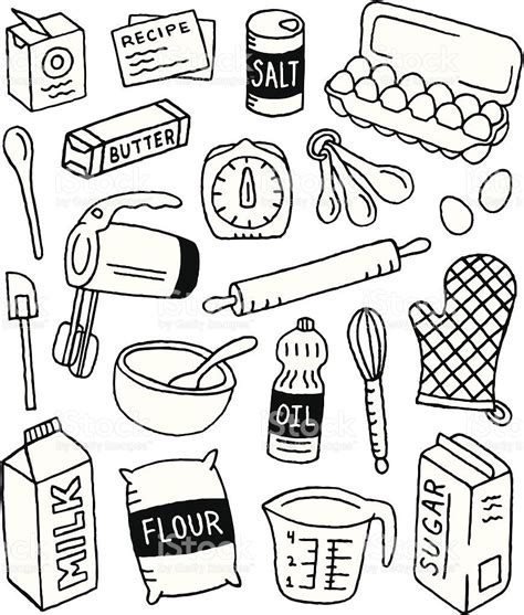 A baking-themed doodle page