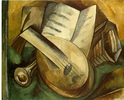 Musical Instruments, 1908 - Georges Braque - WikiArt