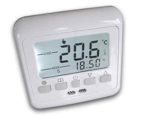 Digital Thermostat Raumthermostat #831 -LCD weiss