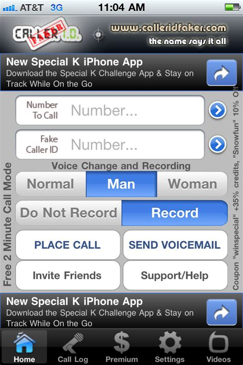 CallerID Faker for iPhone Has All the Cool Features for Free