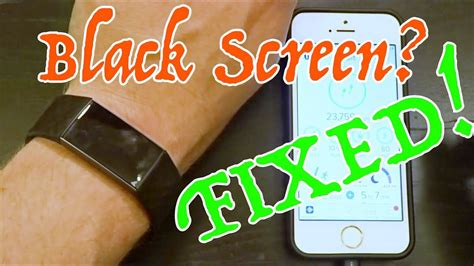 FITBIT CHARGE 3 BLACK SCREEN FIX! - YouTube